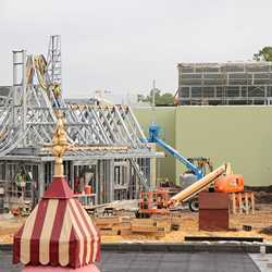 Beauty and the Beast area construction