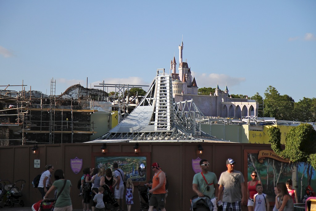 Beast's Castle construction - view from ground level