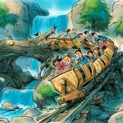 Seven Dwarfs Mine Train concept art