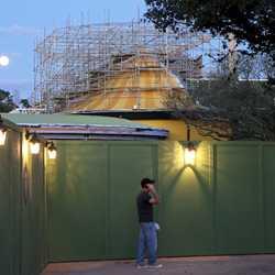 Dumbo queue area construction