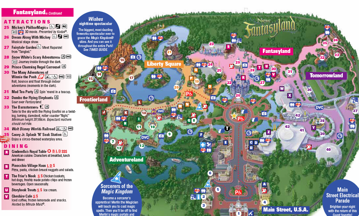 New Magic Kingdom Map Including Storybook Circus