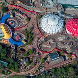 Fantasyland aerial view of construction site