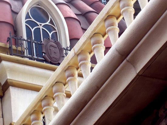 Close-up details of Eric's Castle