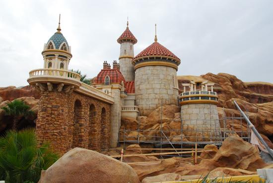 Prince Eric's Castle construction