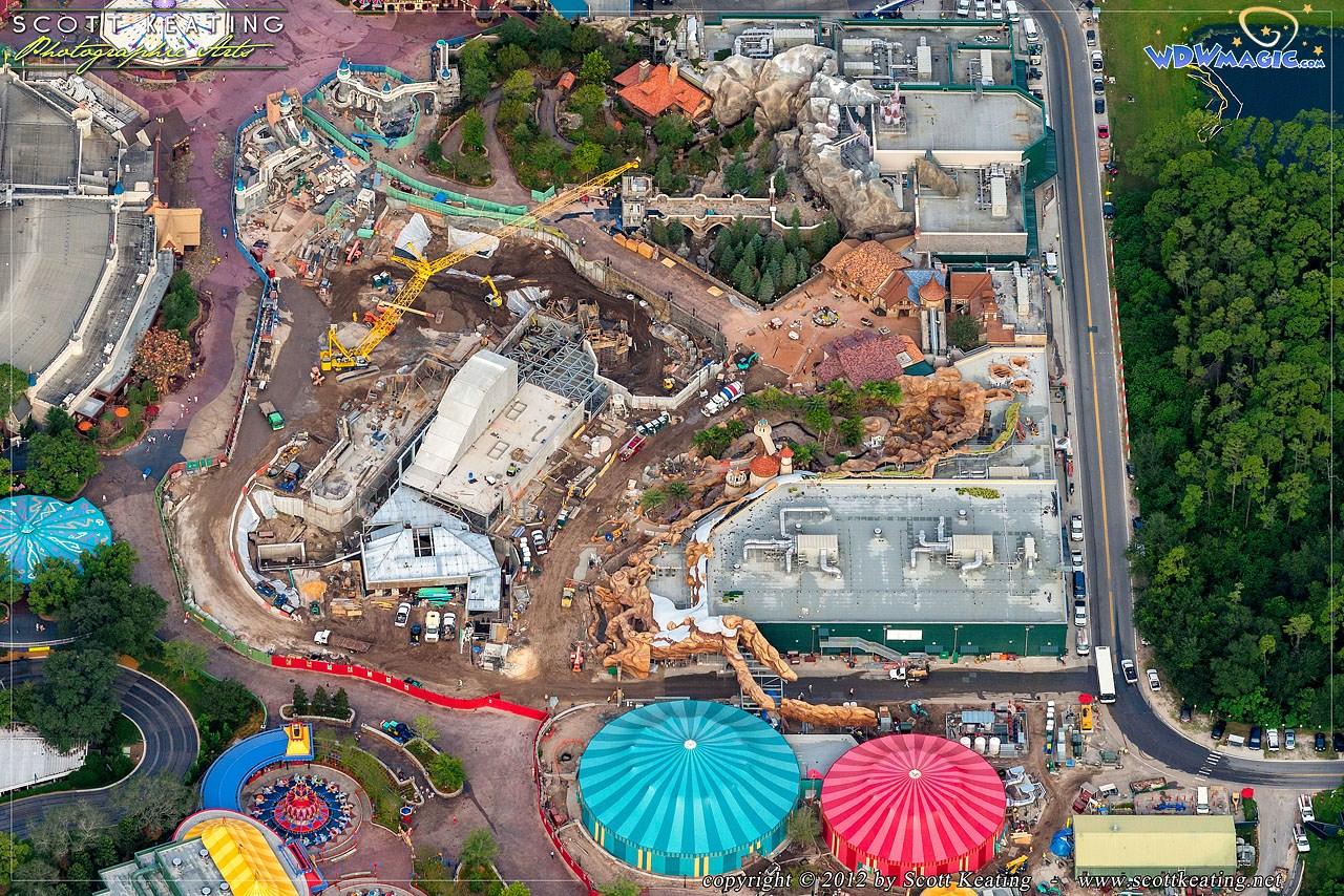 Fantasyland aerial views of construction
