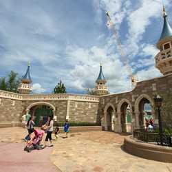 Fantasyland Enchanted Forest castle wall