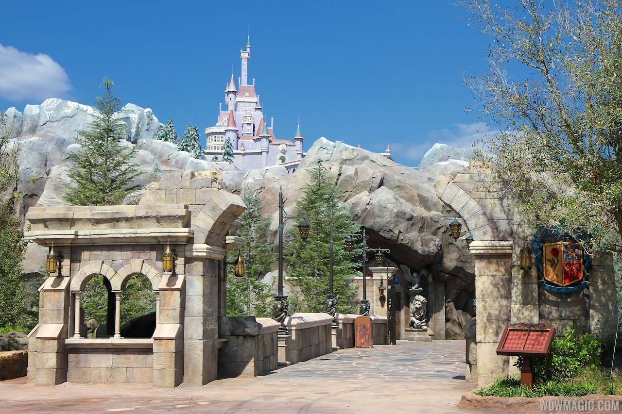 New Fantasyland Enchanted Forest - the entrance to Be Our Guest Restaurant