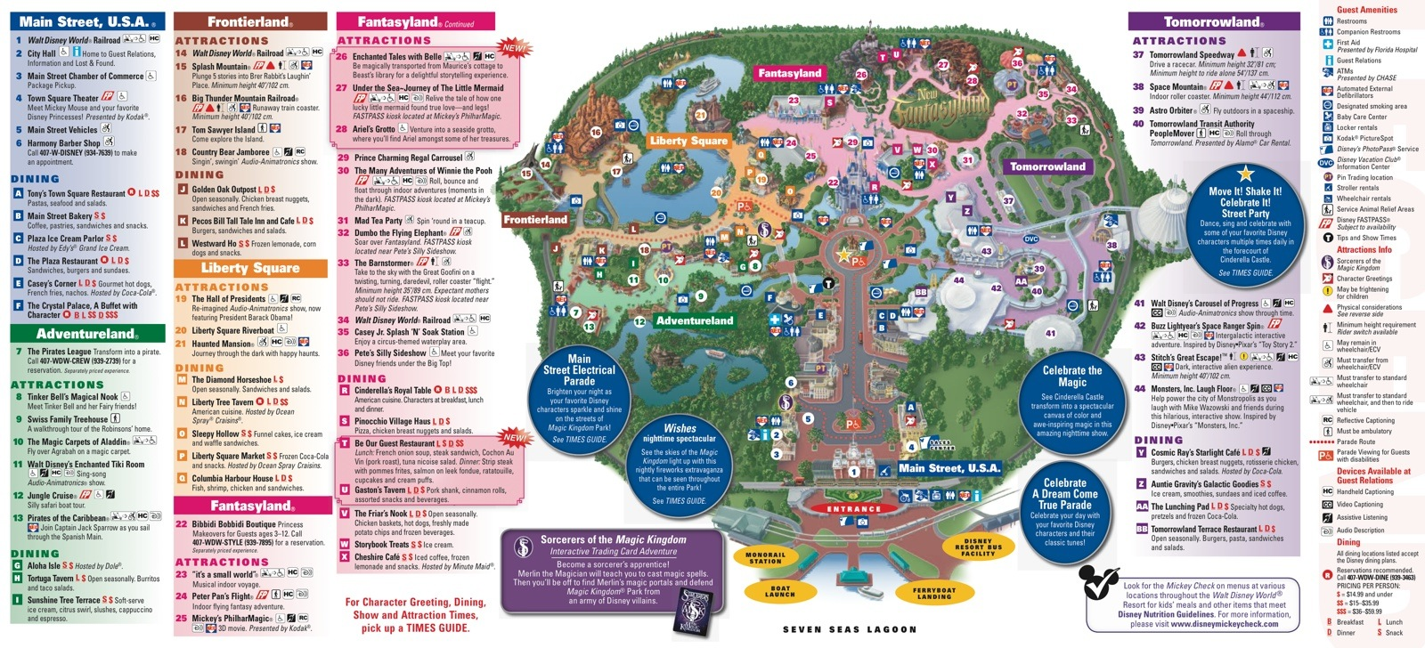Magic Kingdom Orlando Map New Fantasyland on the Magic Kingdom guide map   Photo 1 of 2 Magic Kingdom Orlando Map
