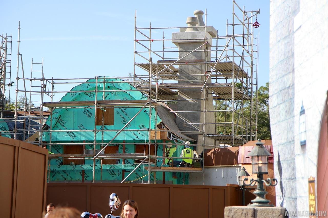 New Fantasyland restroom area construction