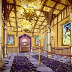 Princess Fairytale Hall concept art