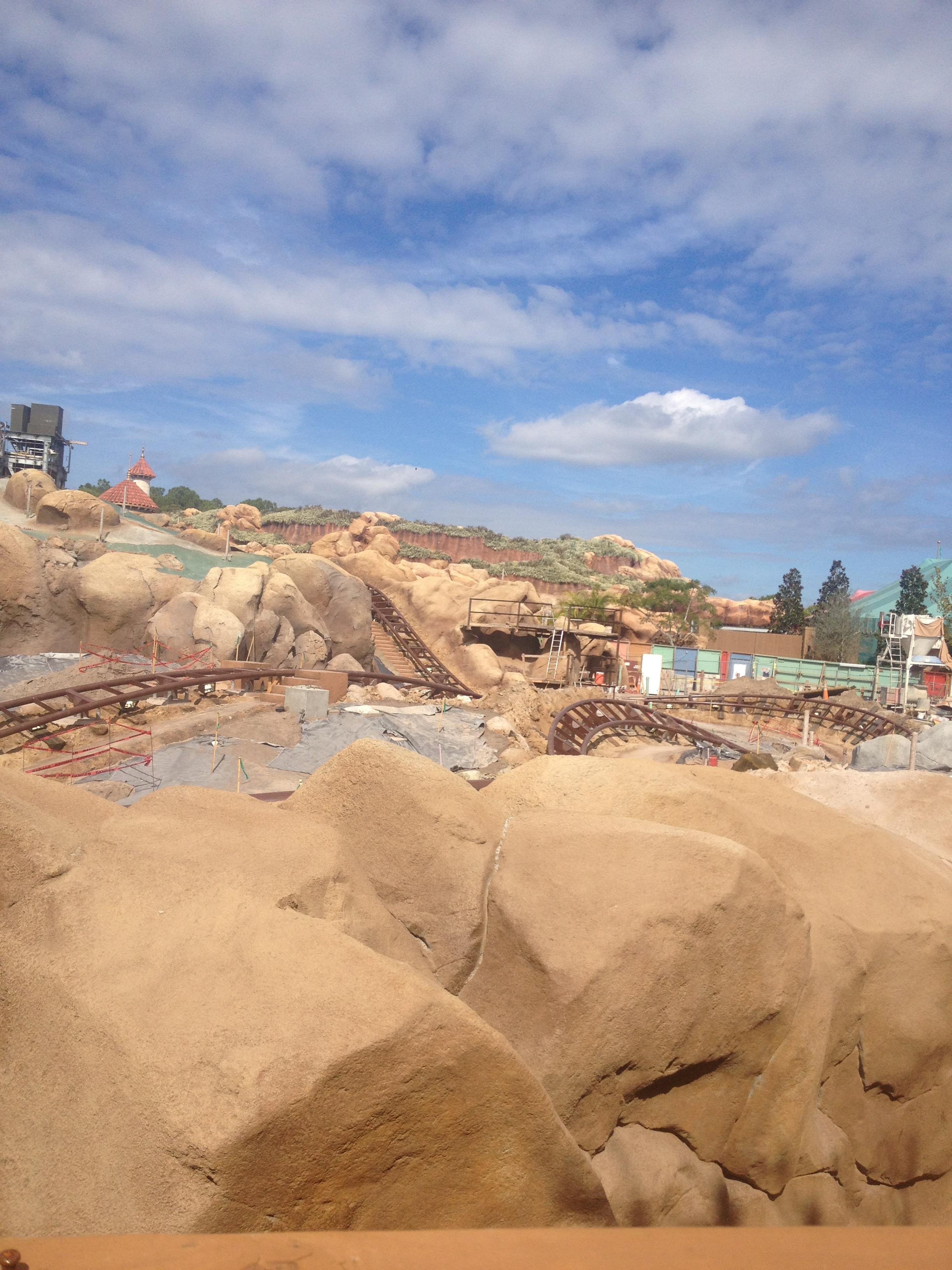 Seven Dwarfs Mine Train construction - Photo by Jon
