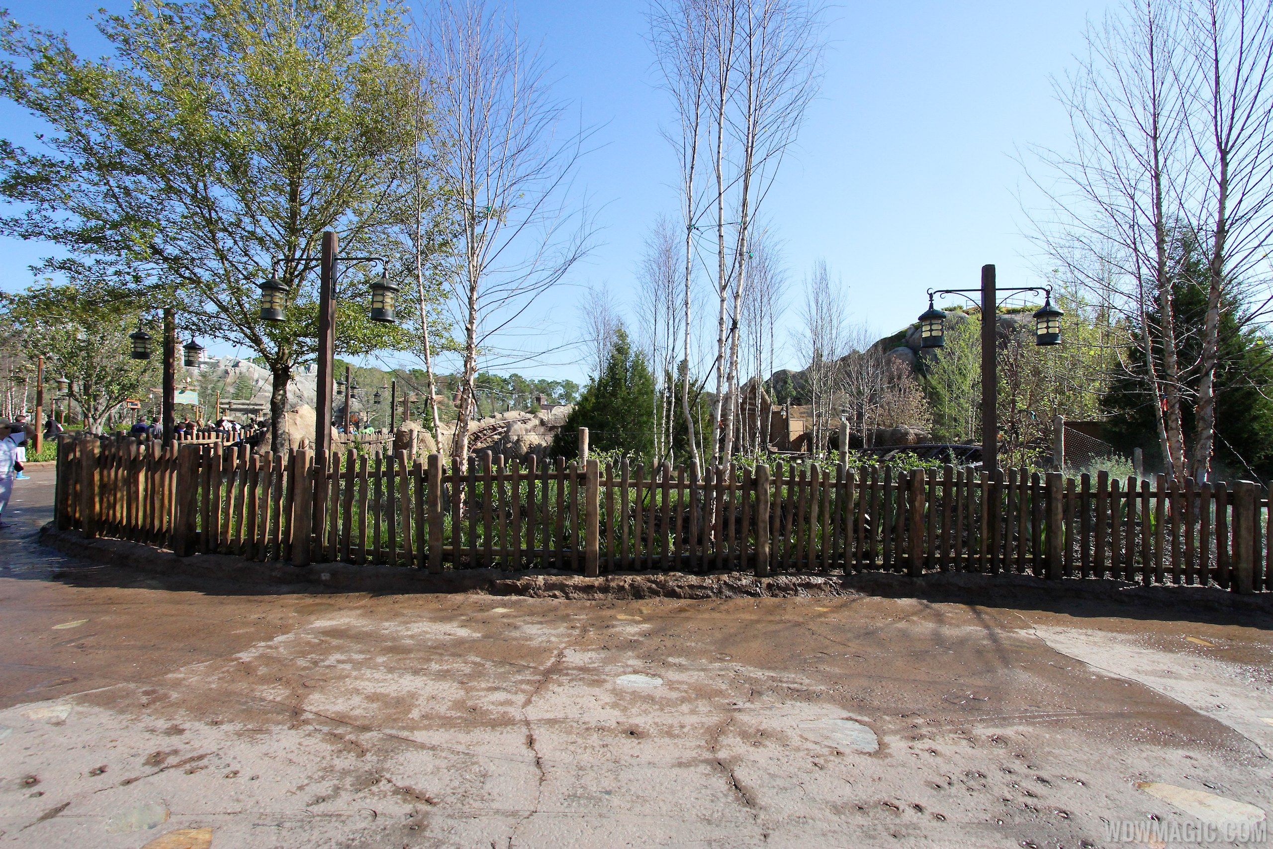 Construction walls down on another section of the mine train coaster