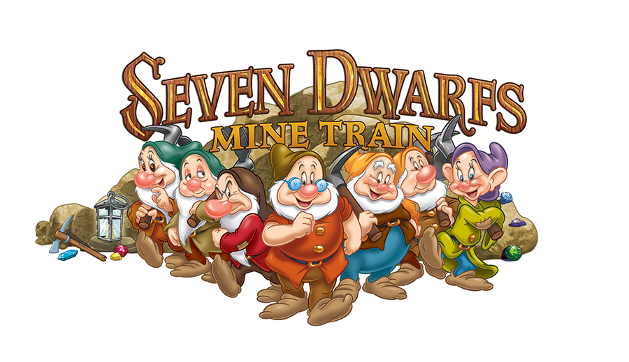 Seven Dwarfs Mine Train coaster logo