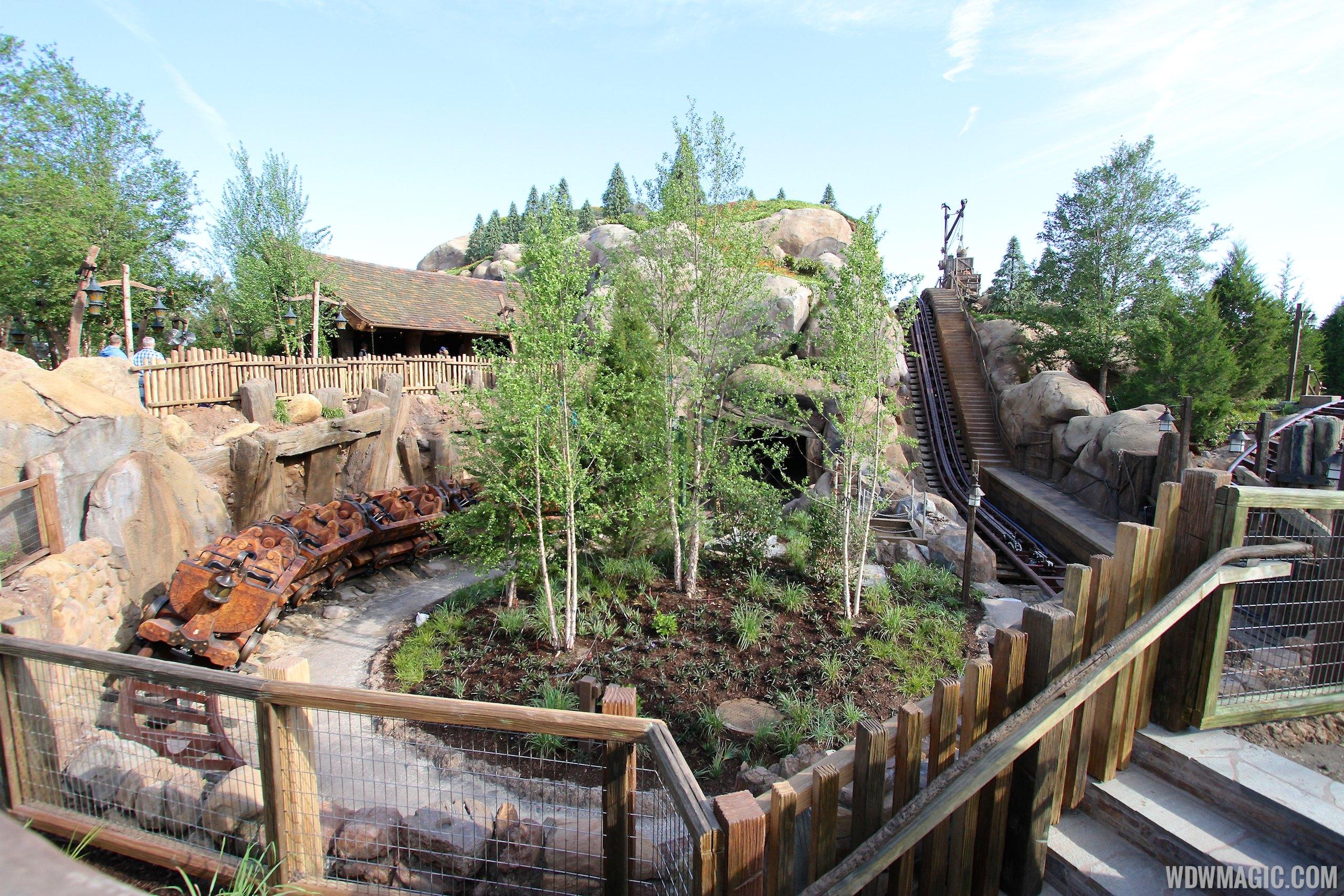 Seven Dwarfs Mine Train lift and track