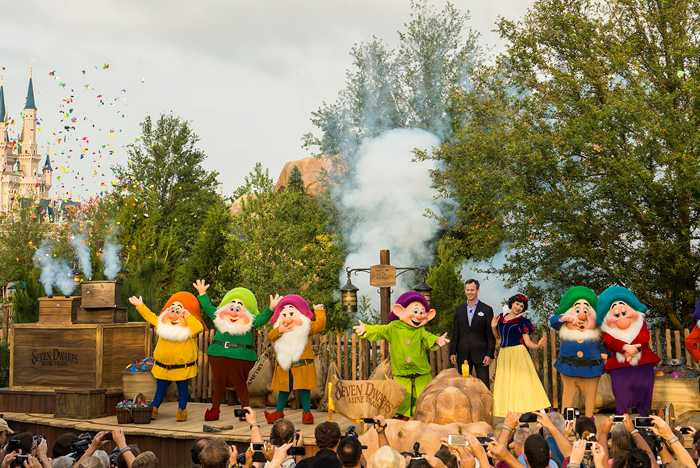 Seven Dwarfs Mine Train dedication ceremony