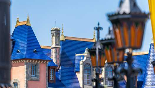 Disney World's 50th spruce up continues with the rooftops of Fantasyland at the Magic Kingdom