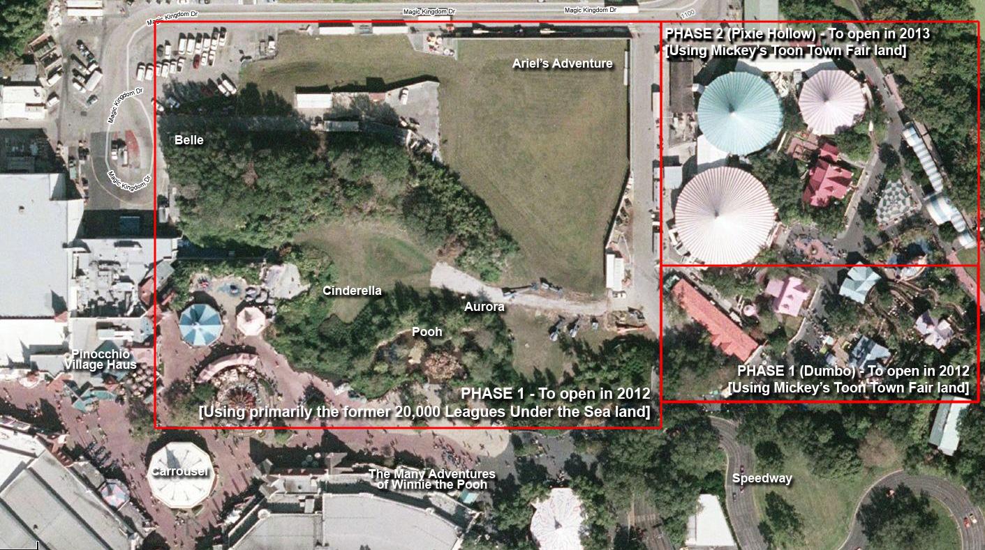 New Fantasyland layout - satellite view