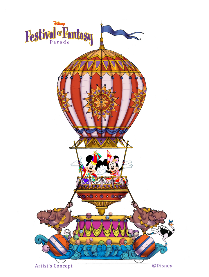 Festival of Fantasy Parade concept art