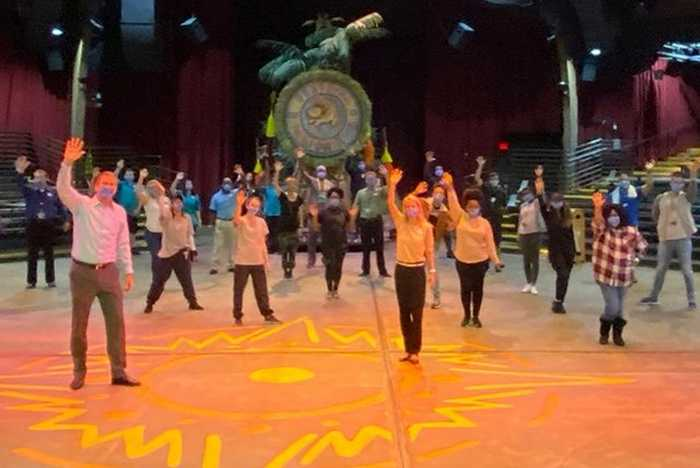 Festival of the Lion King rehearsals