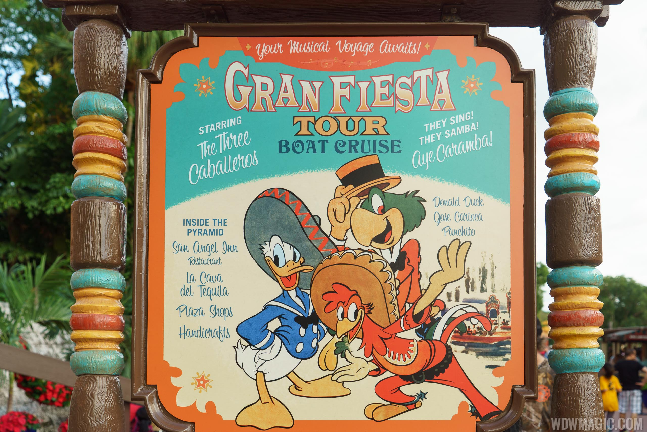 New Gran Fiesta Tour signage outside the Mexico Pavilion
