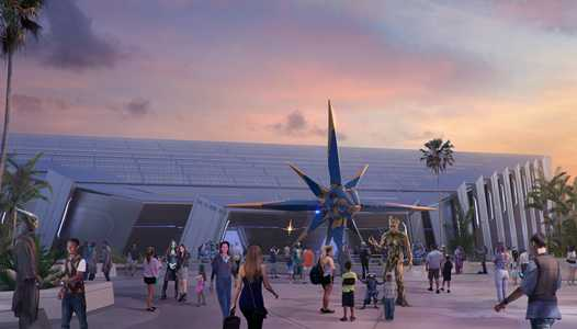 PHOTO - Guardians of the Galaxy coaster ride vehicle concept art