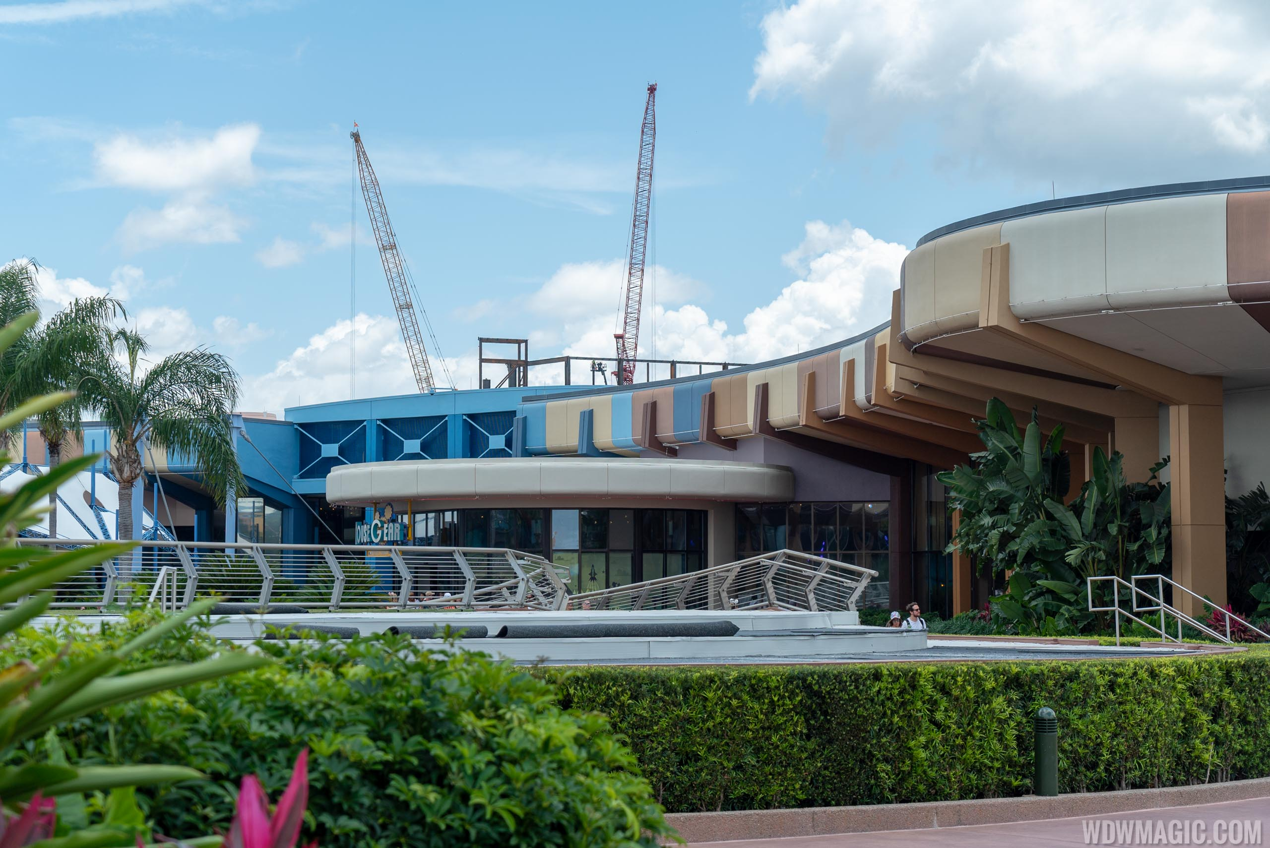 Guardians of the Galaxy viewed from Future World area