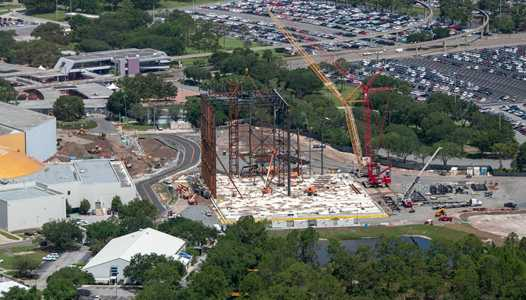 PHOTOS - Guardians of the Galaxy rollercoaster aerial view