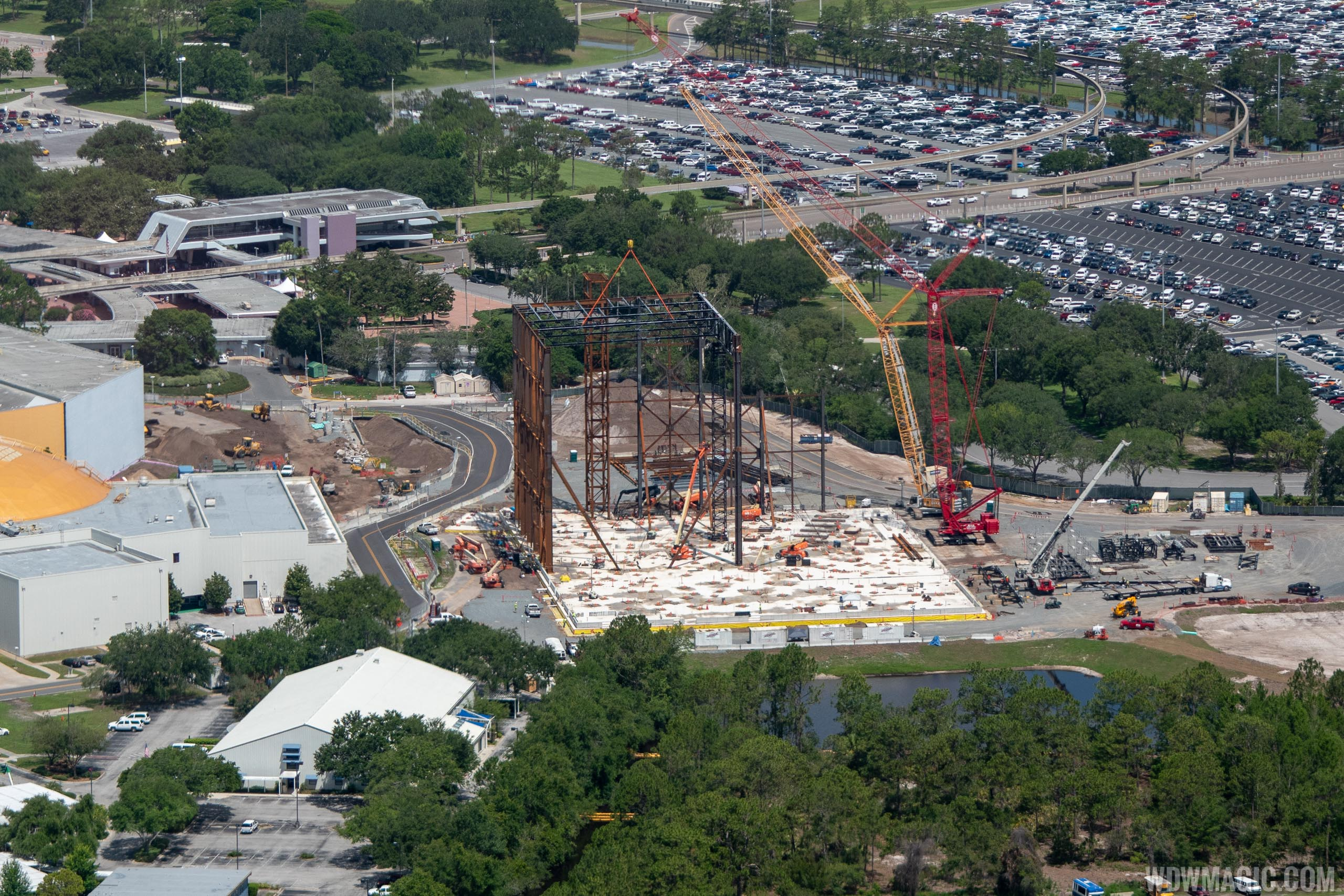 Guardians of the Galaxy construction aerial views - June 2018