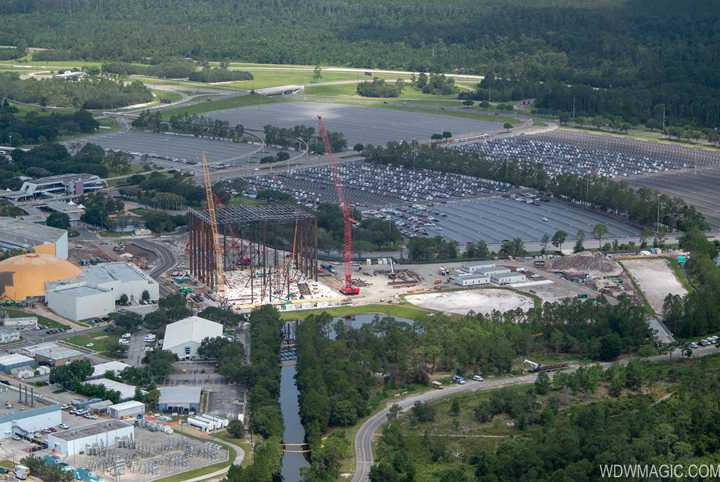 PHOTOS - Birds-eye view of Guardians of the Galaxy coaster under construction at Epcot