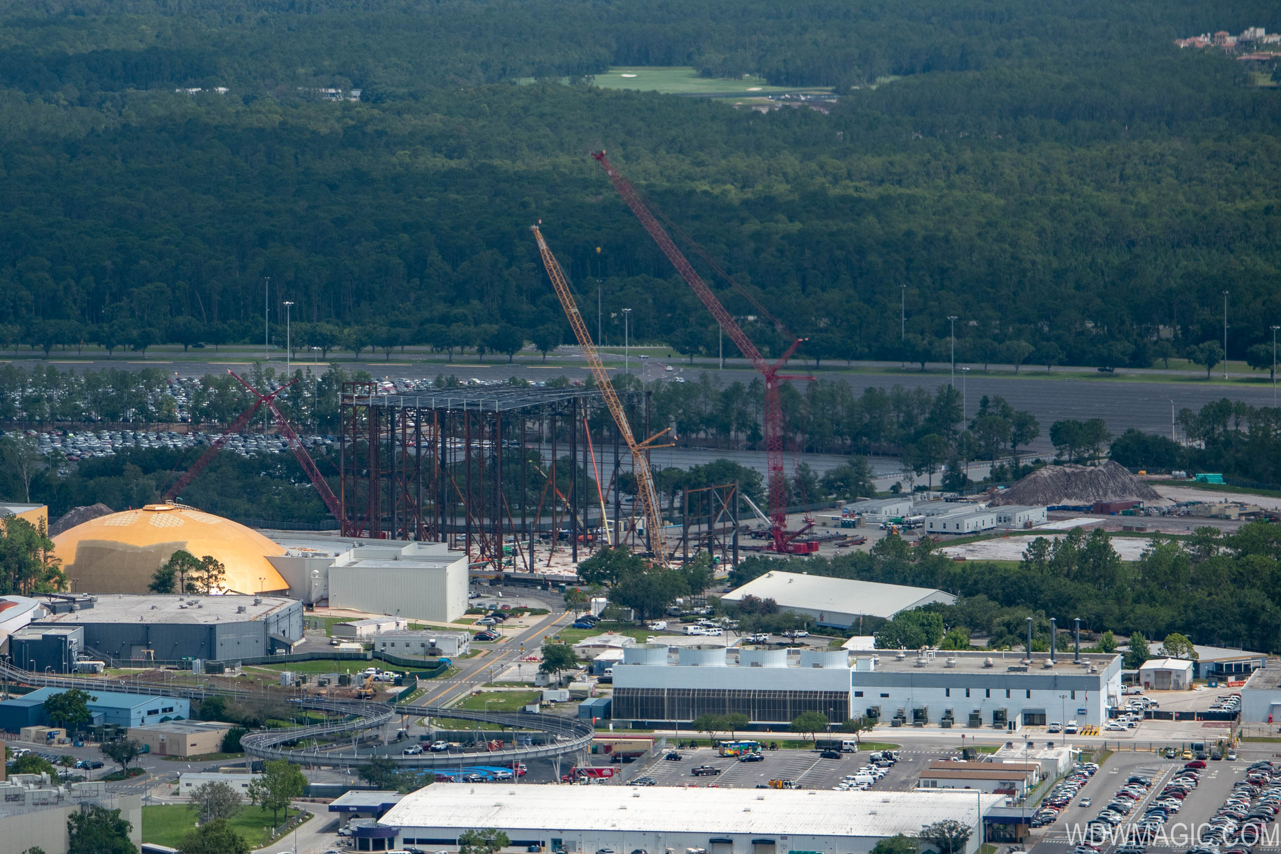 Guardians of the Galaxy construction aerial views - July 2018