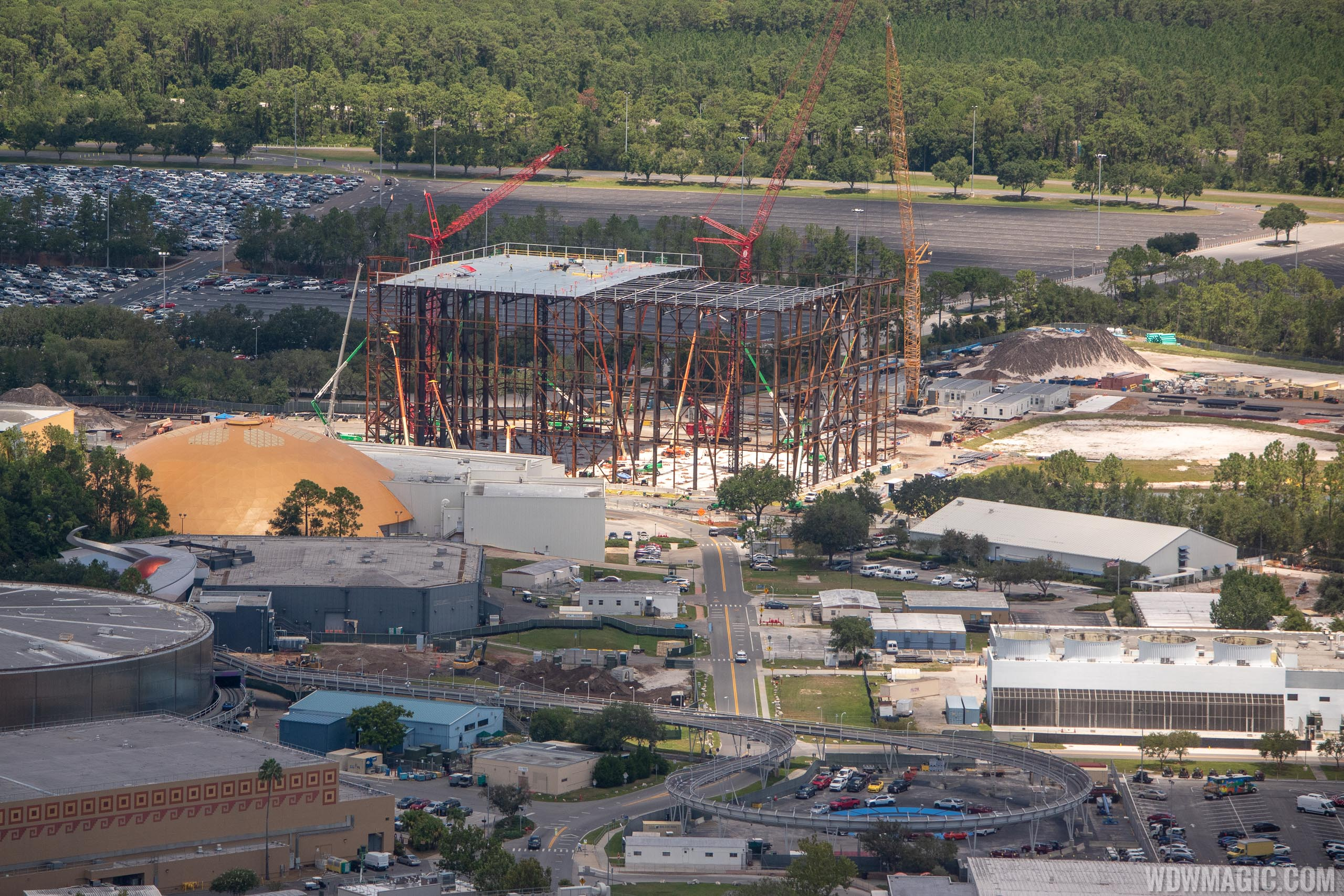 Guardians of the Galaxy construction aerial views - August 2018