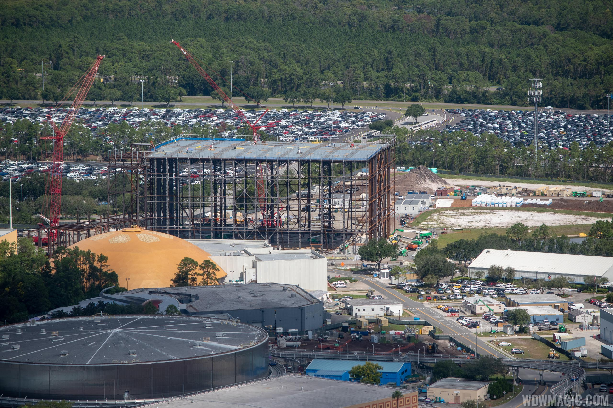 Guardians of the Galaxy construction aerial views - September 2018