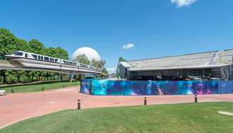 PHOTOS - Guardians of the Galaxy construction at Epcot from inside the park