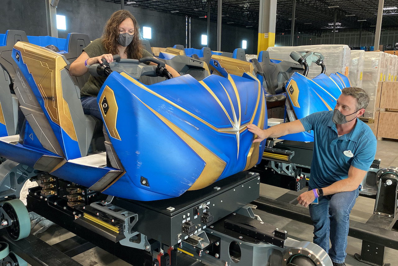 Guardians of the Galaxy: Cosmic Rewind ride vehicles