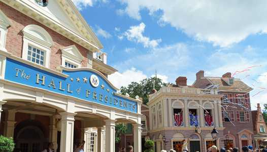 The Hall of Presidents now closed for refurbishment ahead of today's presidential inauguration