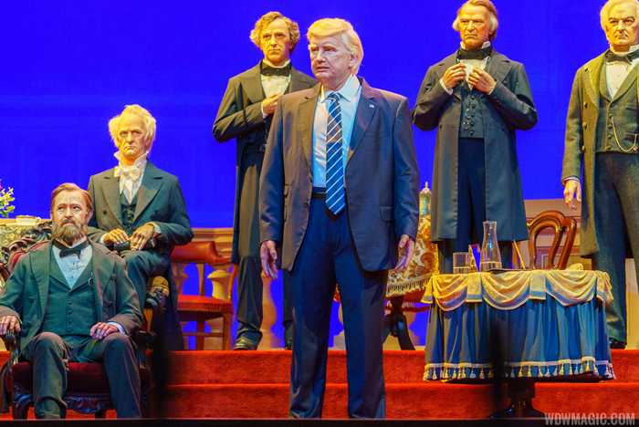 Donald Trump audio-animatronic figure