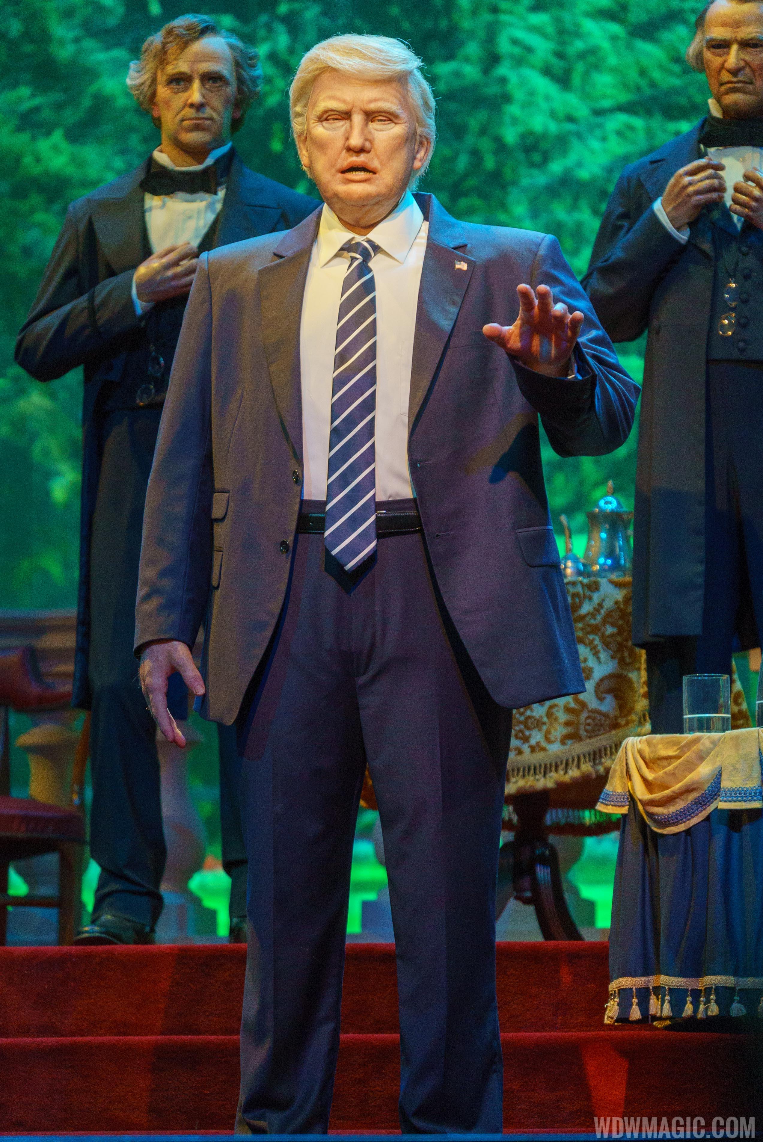 Donald Trump audio-animatronic figure