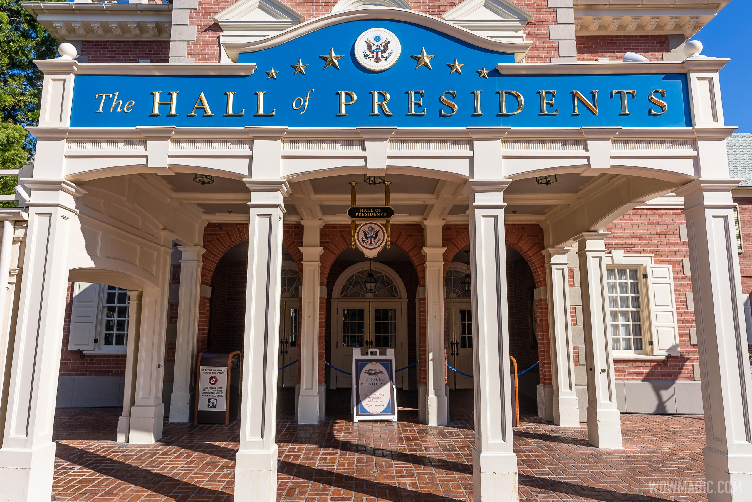 The Hall of Presidents closed for refurbishment - January 2021