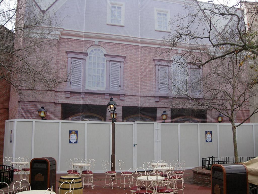 Hall of Presidents exterior refurbishment