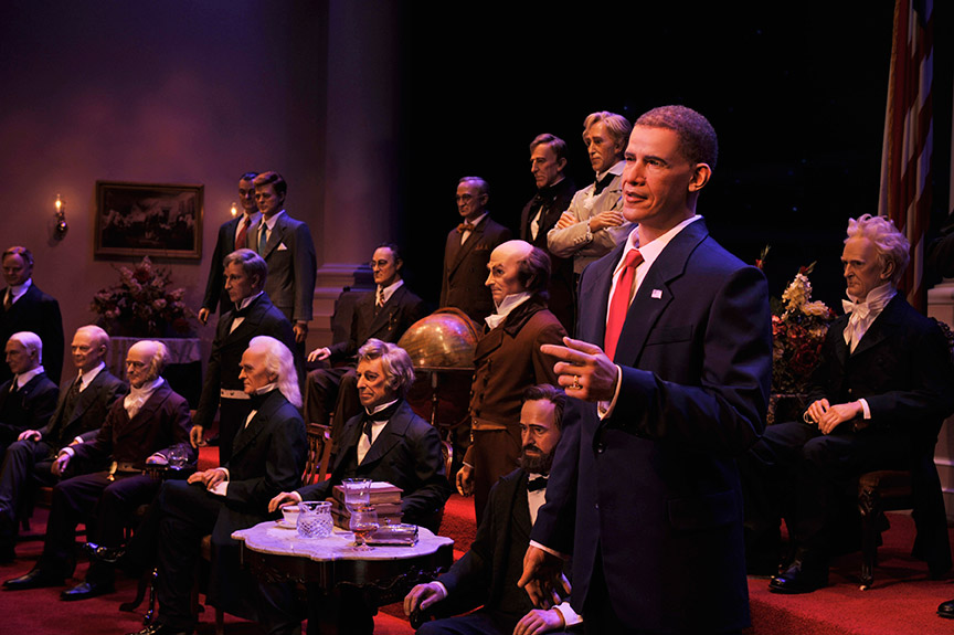 Barack Obama at the Hall of Presidents. Copyright 2009 The Walt Disney Company.
