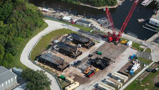 PHOTOS - Barge construction for Epcot's new nighttime show HarmonioUS