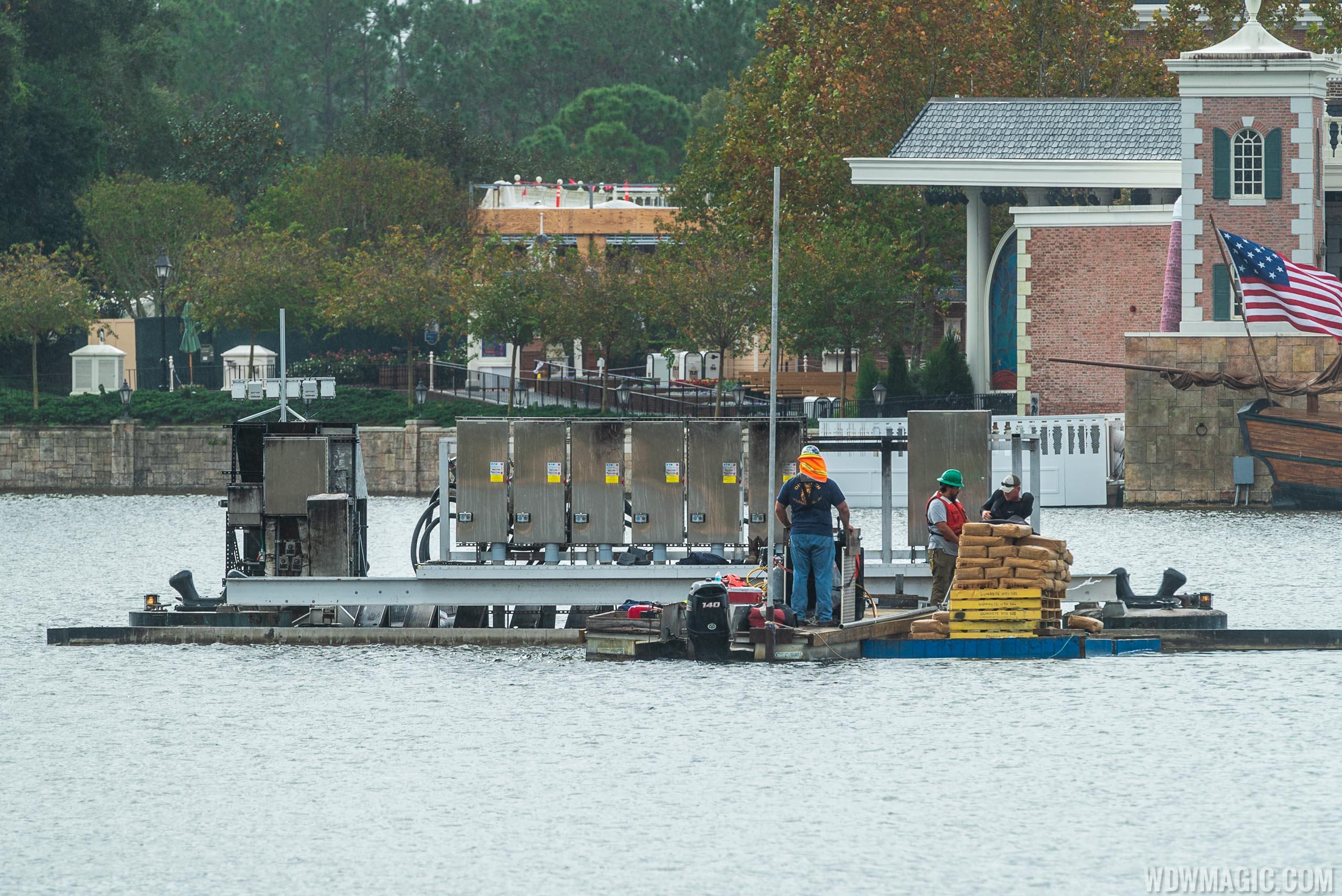 HarmonioUS infrastructure work in World Showcase Lagoon