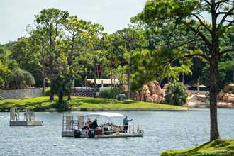 PHOTOS - Divers in the World Showcase Lagoon ahead of overnight Harmonious pyro test
