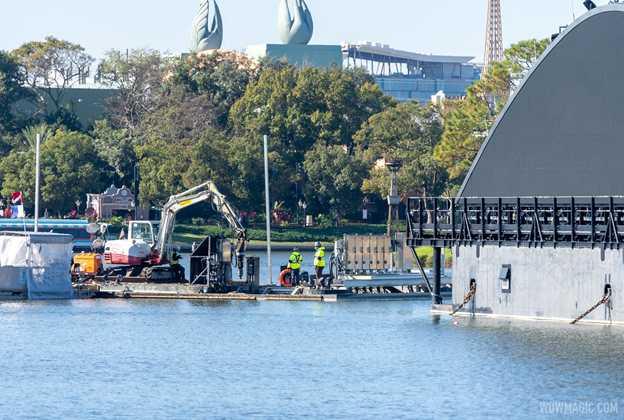 Harmonious electrical work in World Showcase Lagoon