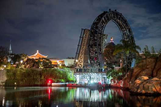 PHOTOS - Main section of the Harmonious central ring brought into World Showcase Lagoon