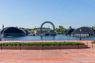 Fifth and final major piece of hardware now in World Showcase lagoon for the upcoming Harmonious show at EPCOT