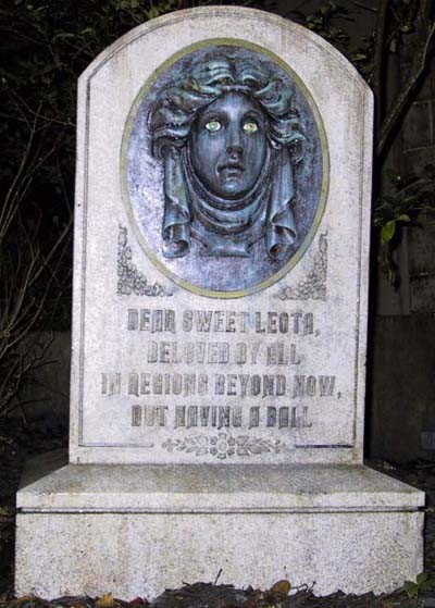 New Tomb Stone at the Haunted Mansion