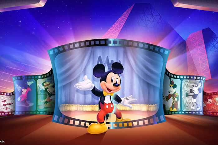 Concept art of the new Mickey Mouse meet and greet area