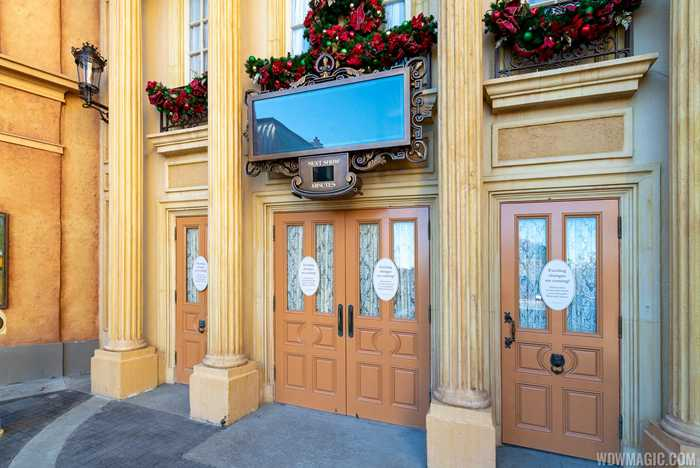 Palais du Cinéma with new signage for Beauty and the Beast Sing-Along