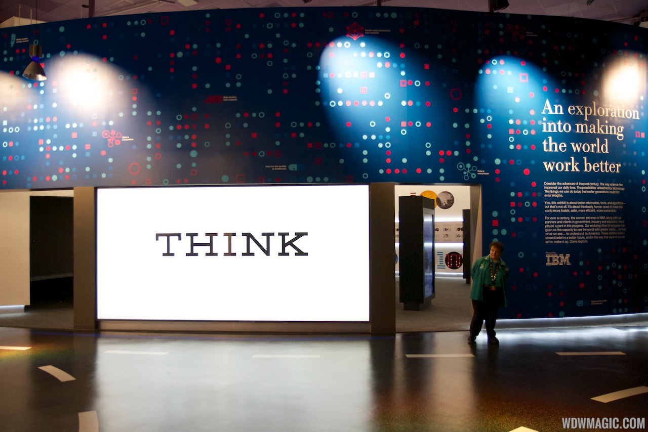 IBM THINK exhibit at Epcot Innoventions - Entrance
